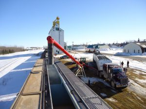 Auger loading at Manitou